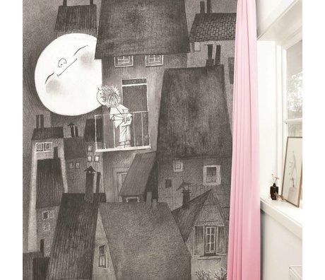 Kek Amsterdam Wallpaper Moonlight grå sort Paperliners 194,8x280cm