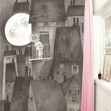 Kek Amsterdam Wallpaper Moonlight grigio nero Paperliners 194,8x280cm