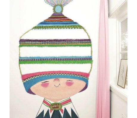 Kek Amsterdam Tapete Little Prince Mehrfarbig Papiervlies 194,8x280cm