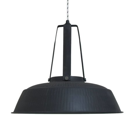 HK-living Hanging lamp workshop black matt rustic EXTRALARGE 74x74x62cm
