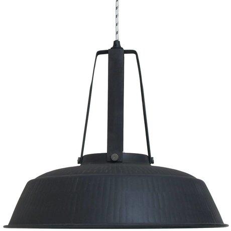 HK-living Hanging atelier de lampe noir mat rustique EXTRALARGE 74x74x62cm