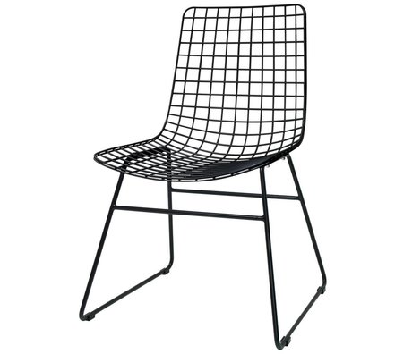 HK-living Dining chair Dining Wire black metal 47x54x86cm