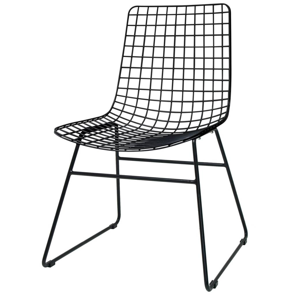 Hk Living Dining Chair Dining Wire Black Metal 47x54x86cm