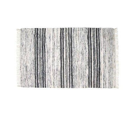 HK-living Teppich Seide recycelt schwarz weiß 120x180cm