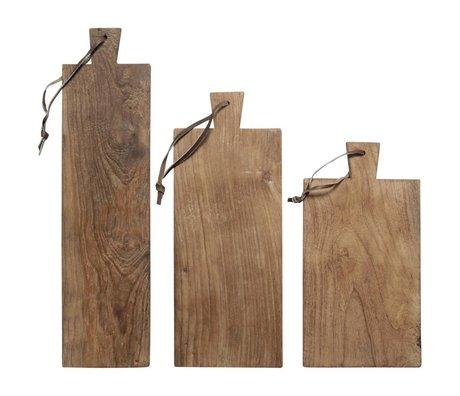 HK-living 3 plakaların ekmek tahtaları geri dönüşümlü tik seti