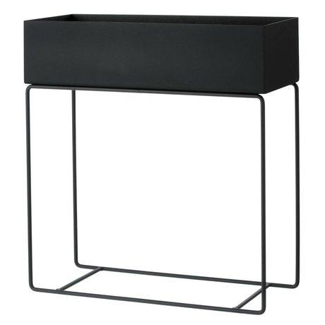 Ferm Living Box für Pflanze schwarz Metall 60x25x65cm