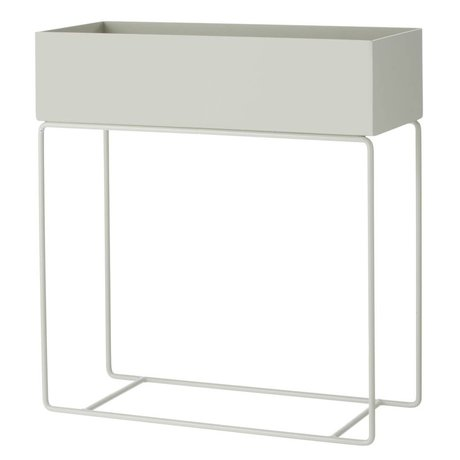 Ferm Living Box für Pflanze grau Metall 60x25x65cm
