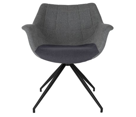 Zuiver Yemek sandalye Doulton gri 67x61x80cm