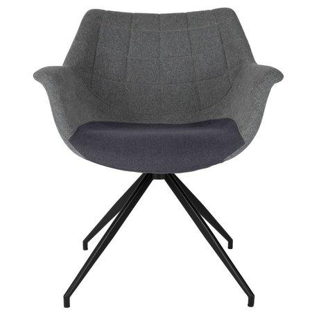 Zuiver Spisebordsstol Doulton grå 67x61x80cm