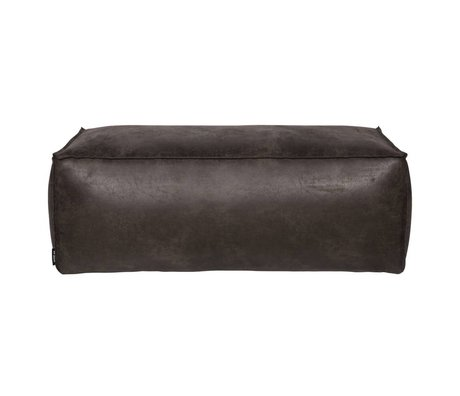BePureHome Puf Rodeo siyah deri 120x60x43cm