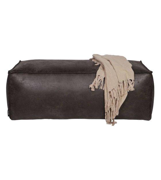 bepurehome pouf rodeo 120x60x43cm en cuir noir. Black Bedroom Furniture Sets. Home Design Ideas