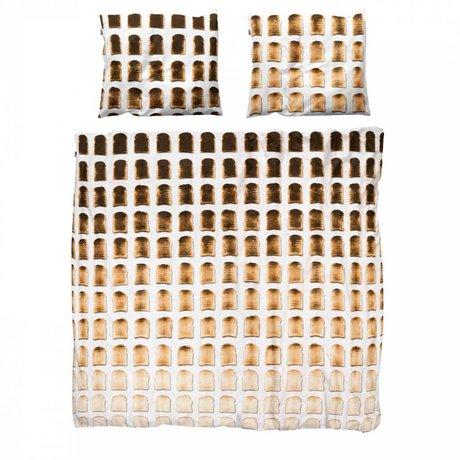 Snurk Beddengoed Linge couvre-lit toasts 140x200x220cm de coton y compris 1x taie d'oreiller 60x70cm