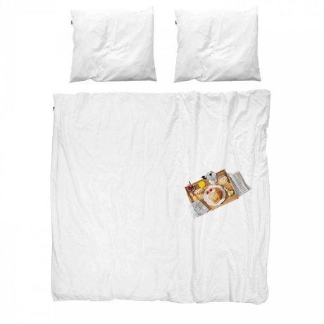 Snurk Sengetøj sengetæppe bomuld Morgenmad 200x200x220cm 2x pudebetræk 60x70cm