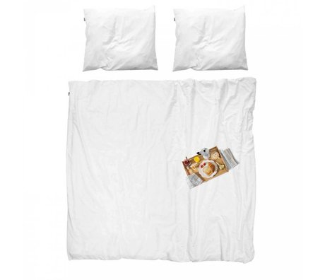 Snurk Sengetøj sengetæppe bomuld Morgenmad 260x200x220cm 2x pudebetræk 60x70cm
