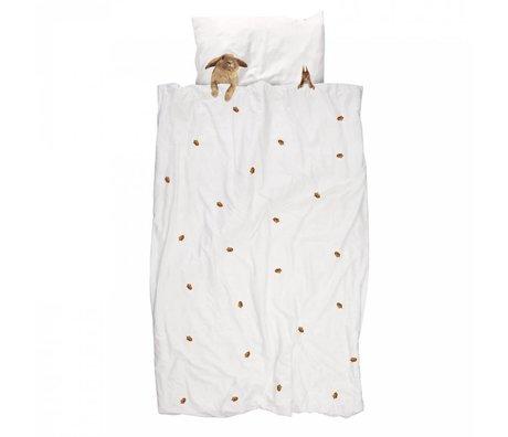 Snurk Beddengoed Linen sengetæppe Furry Friends Bomuld 140x220cm