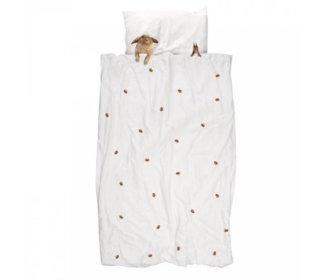 Snurk Ropa de algodón colchas peludos amigos 140x220cm