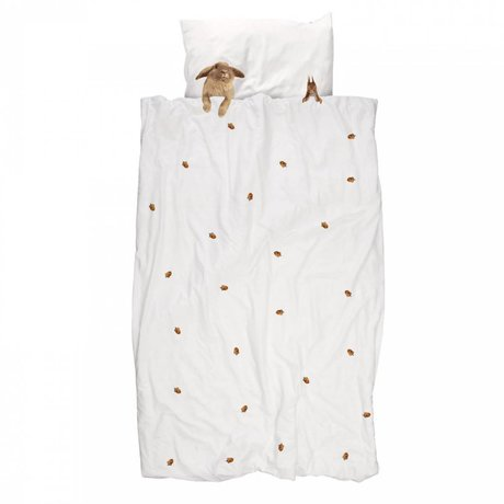 Snurk Beddengoed Ropa de algodón colchas peludos amigos 140x220cm