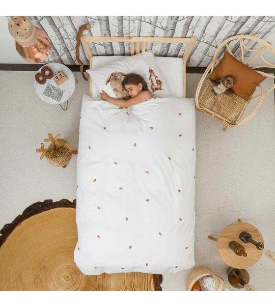Snurk beddengoed copriletto in lino furry friends cotone - Copriletto lino ...