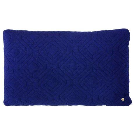 Ferm Living Almohada acolchada 60x40cm azul oscuro