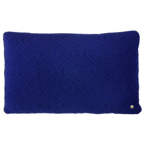 Ferm Living Pillows Quilted dark blue 60x40cm