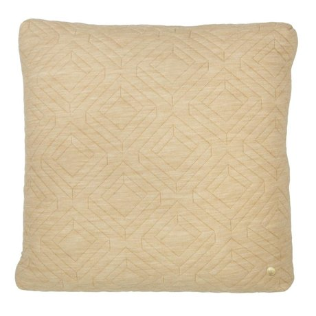 Ferm Living Pillows Quilted camel 45x45cm