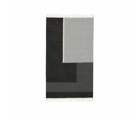 Ferm Living Tapis Kelim section grise petite 80x140cm