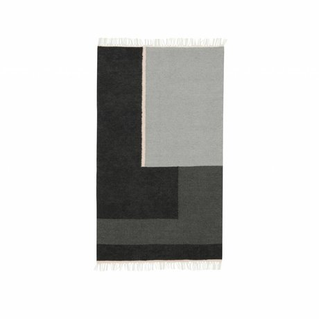 Ferm Living Carpet Kelim section gray small 80x140cm
