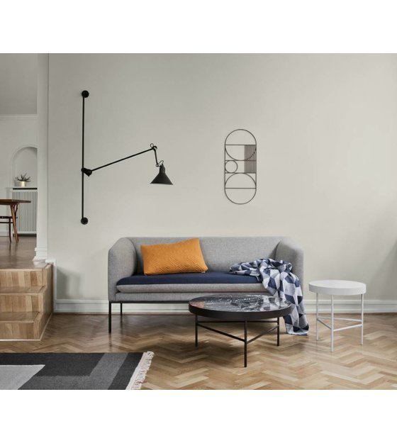 ferm living teppich kelim section grau small 80x140cm. Black Bedroom Furniture Sets. Home Design Ideas
