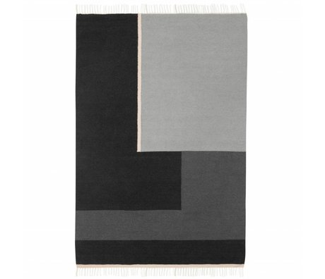 Ferm Living Teppich Kelim section grau large 160x250cm