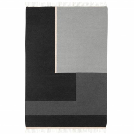 Ferm Living Tapis Kelim section grise grande 160x250cm