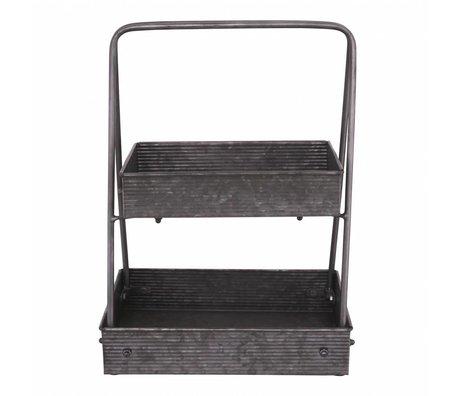 Nicolas Vahé Storage shelf zinc 35.5x25.5x47cm