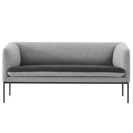 Ferm Living Couch Turn 2-Sitzer grau Wole 160x71x73cm