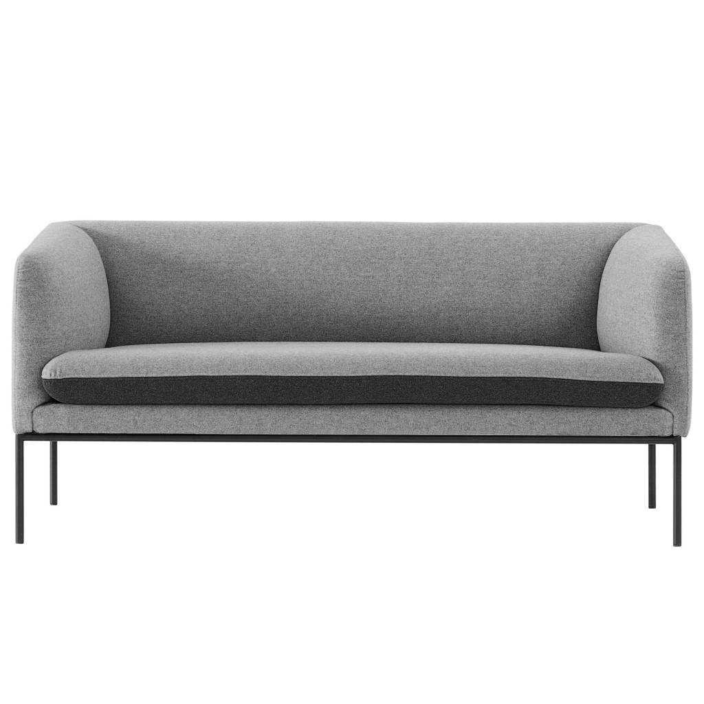 ferm living couch turn 2 sitzer grau wolle 160x71x73cm. Black Bedroom Furniture Sets. Home Design Ideas