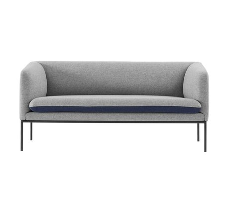 Ferm Living Couch Turn 2 pers grå blå bomuld 160x71x73cm