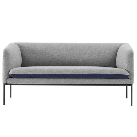 Ferm Living Couch Turn 2 places gris bleu coton 160x71x73cm