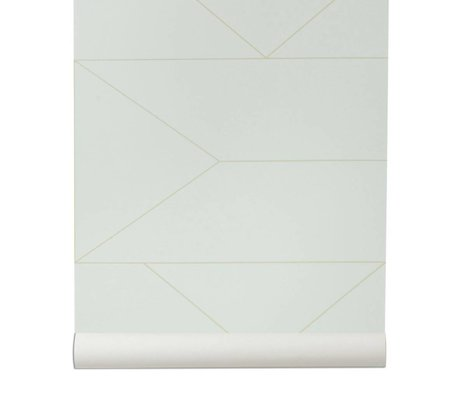 Ferm Living Tapete Lines gebrochen weiß 10x0,53m