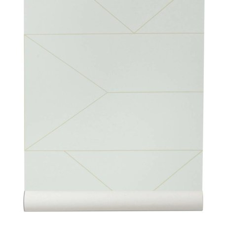 Ferm Living broken wallpaper Lines white 10x0,53m