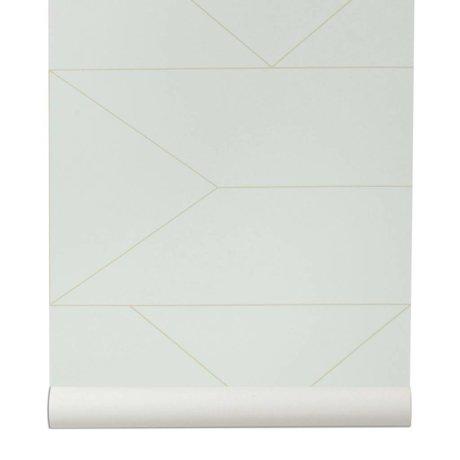 Ferm Living brudte tapet Lines hvid 10x0,53m