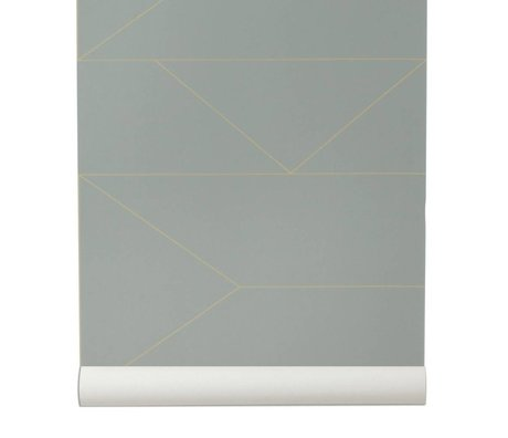 Ferm Living Wallpaper Lines gray 10x0,53m