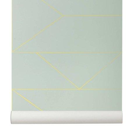 Ferm Living Duvar kağıdı Hatları mintgrün 10x0,53m