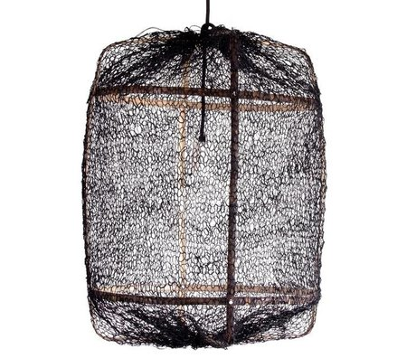 Ay Illuminate Hanging lamp bamboo with black cover made of sisal ø67x100cm