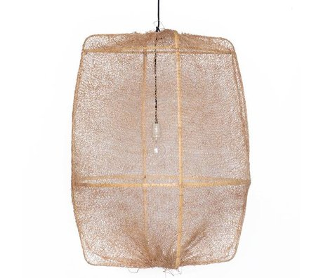 Ay Illuminate Hanging bambù Lampada Z2 Ona con coperchio marrone in sisal ø77x105cm