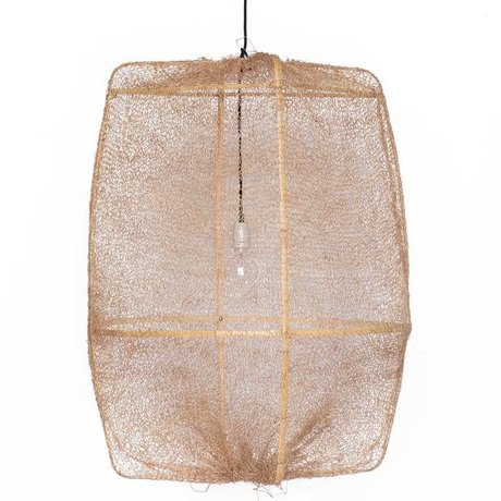Ay Illuminate Hanging Lamp Z2 Ona bamboo with brown cover made of sisal ø77x105cm