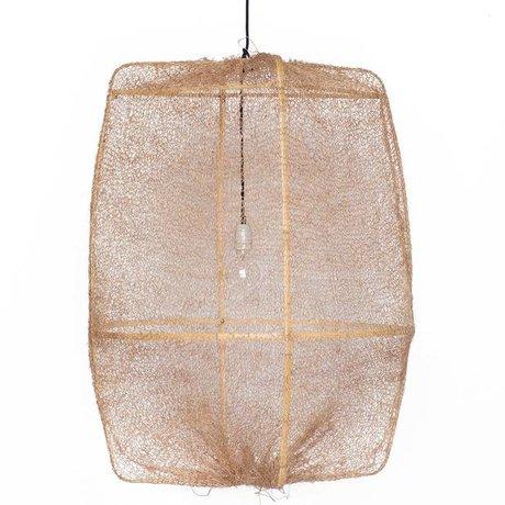 Ay Illuminate sisal ø77x105cm yapılmış kahverengi kapak ile asılı lambası Z2 Ona bambu