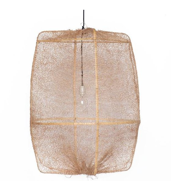 Ay Illuminate Hangelampe Z2 Ona Bambus Mit Braunen Bezug Aus Sisal