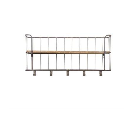 BePureHome Garderobe Giro grau braun Metall Holz 40x85x20cm