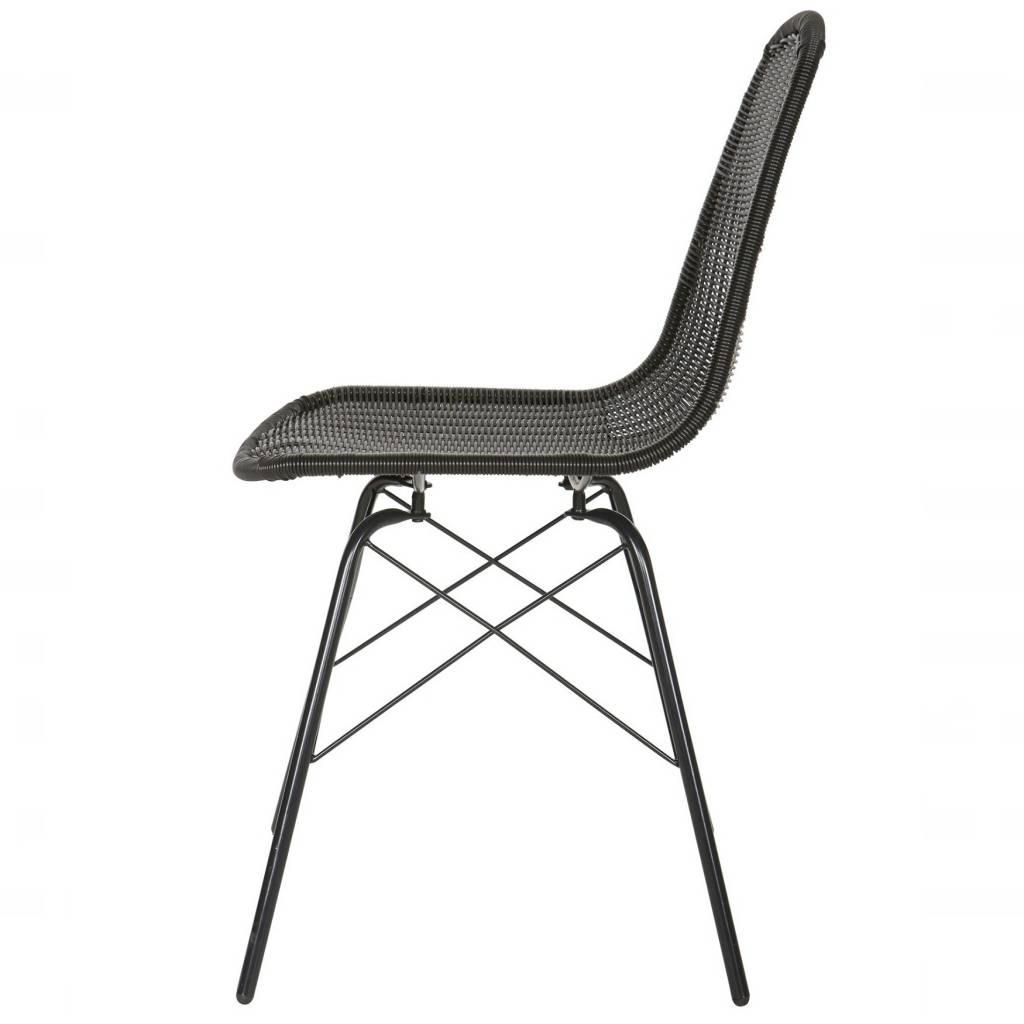 Stuhl spun schwarz polyester metall 84 5x52 5x45 5cm - Stuhl schwarz metall ...