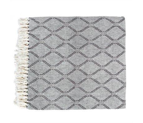 HK-living Plaid tessuto 240x260cm cotone nero