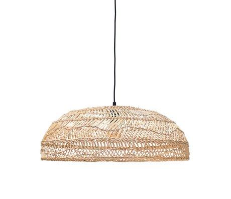 HK-living Hængende lampe håndvævet beige Ried 45x45x20cm