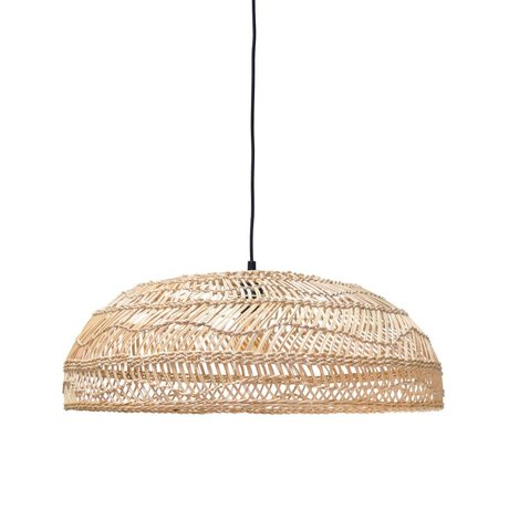 HK-living Hanging lamp handwoven beige Ried 45x45x20cm